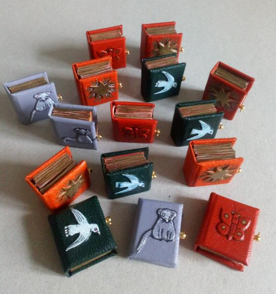 collection de livres miniatures
